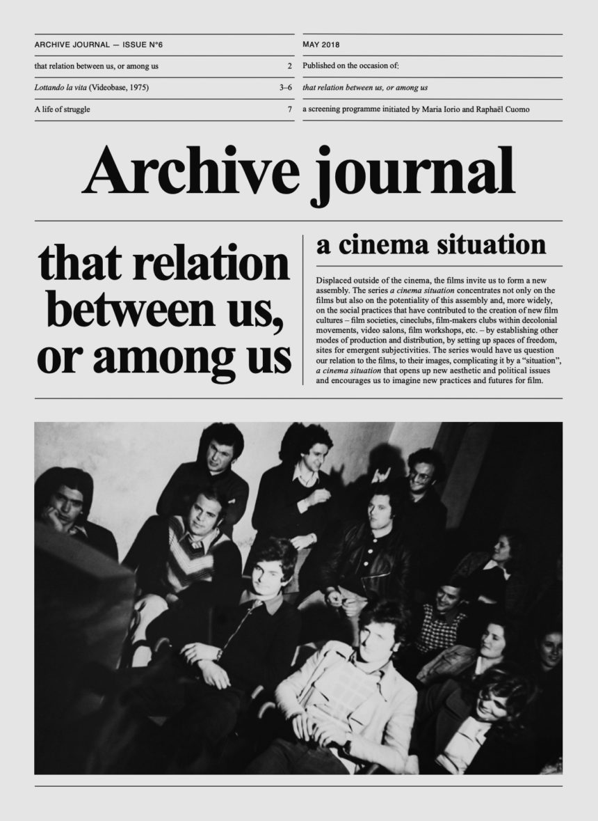 Archive Journal N°6