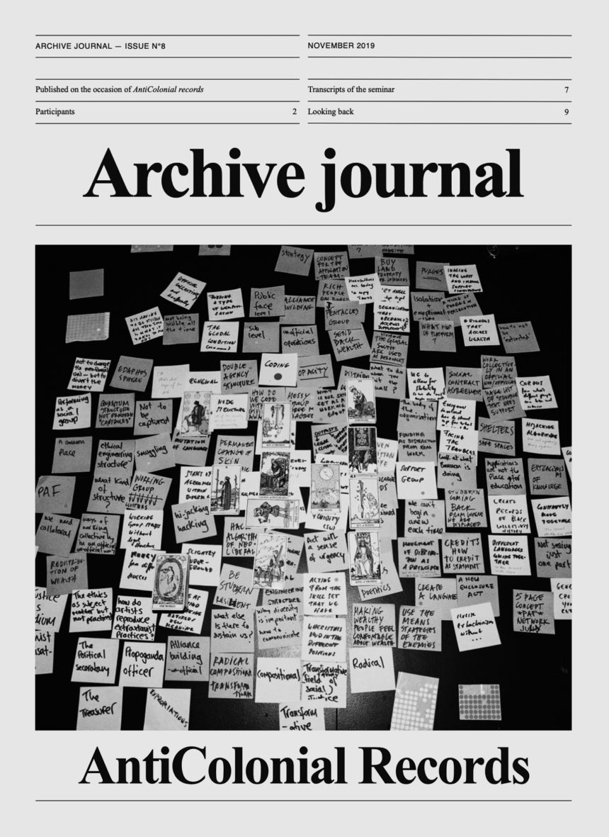 Archive Journal N°8